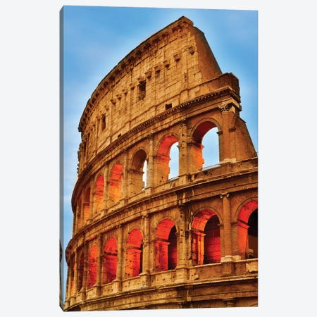 Colosseum At Night I Canvas Print #SKR49} by Susanne Kremer Canvas Artwork