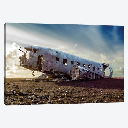 Aircraft Wreck DC3 Canvas Print #SKR4} by Susanne Kremer Canvas Art Print