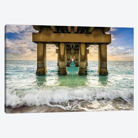 High Tide, Miami Beach Florida Canvas Print #SKR501} by Susanne Kremer Canvas Wall Art