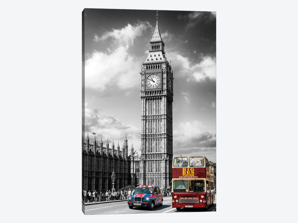London Calling, Big Ben London, United Kingdom by Susanne Kremer 1-piece Canvas Art Print