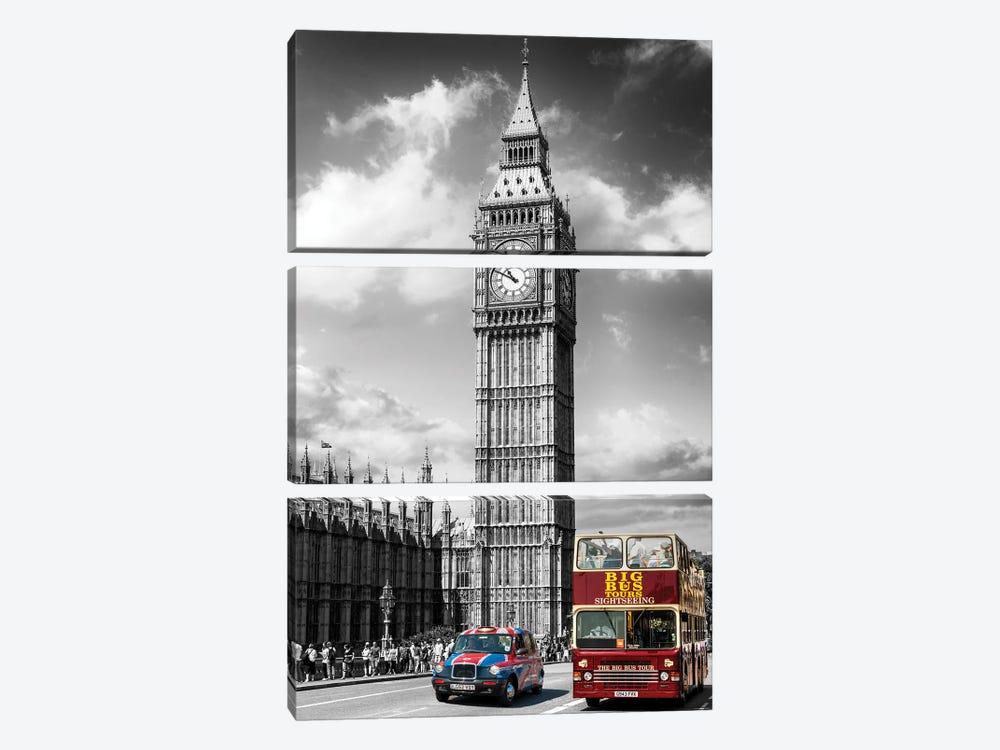 London Calling, Big Ben London, United Kingdom by Susanne Kremer 3-piece Canvas Art Print