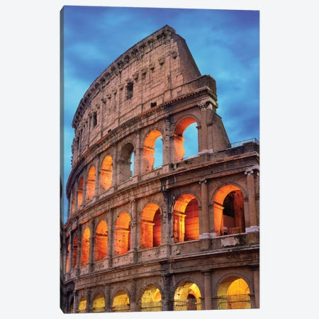 Colosseum At Night II Canvas Print #SKR50} by Susanne Kremer Art Print