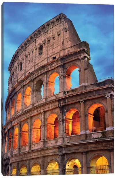 Colosseum At Night II Canvas Art Print
