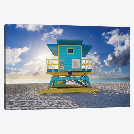 South Beach Relaxing Morning Miami Florida Canvas Print #SKR516} by Susanne Kremer Canvas Art
