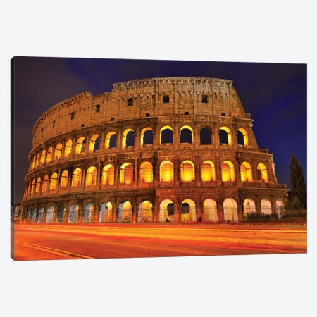Colosseum At Night III Canvas Print #SKR51} by Susanne Kremer Art Print