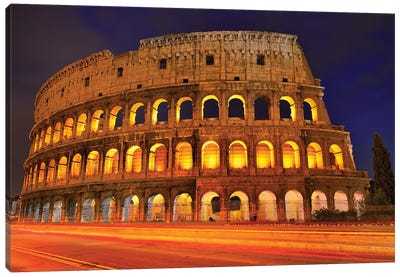 Colosseum At Night III Canvas Art Print