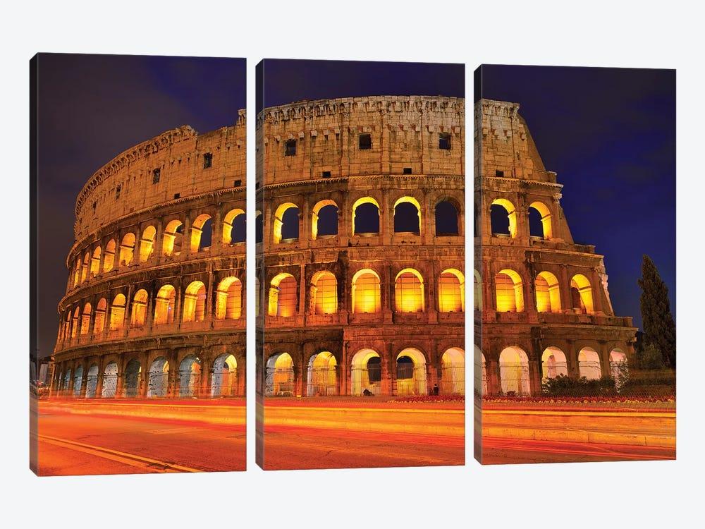 Colosseum At Night III by Susanne Kremer 3-piece Canvas Art Print