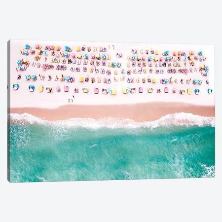 Beach Candy In Pastel, Miami Beach Florida Canvas Print #SKR525} by Susanne Kremer Art Print