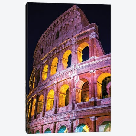 Colosseum Wall  Canvas Print #SKR52} by Susanne Kremer Art Print
