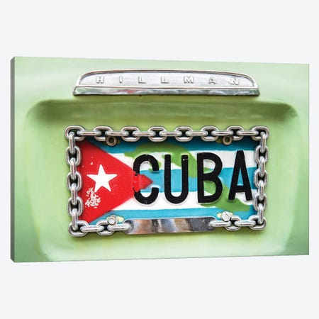 Cuban Plate, Streets of Havana  Canvas Print #SKR55} by Susanne Kremer Canvas Artwork