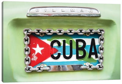 Cuban Plate, Streets of Havana  Canvas Art Print