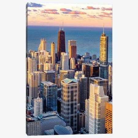 Downtown Chicago Skyline  Canvas Print #SKR57} by Susanne Kremer Canvas Art