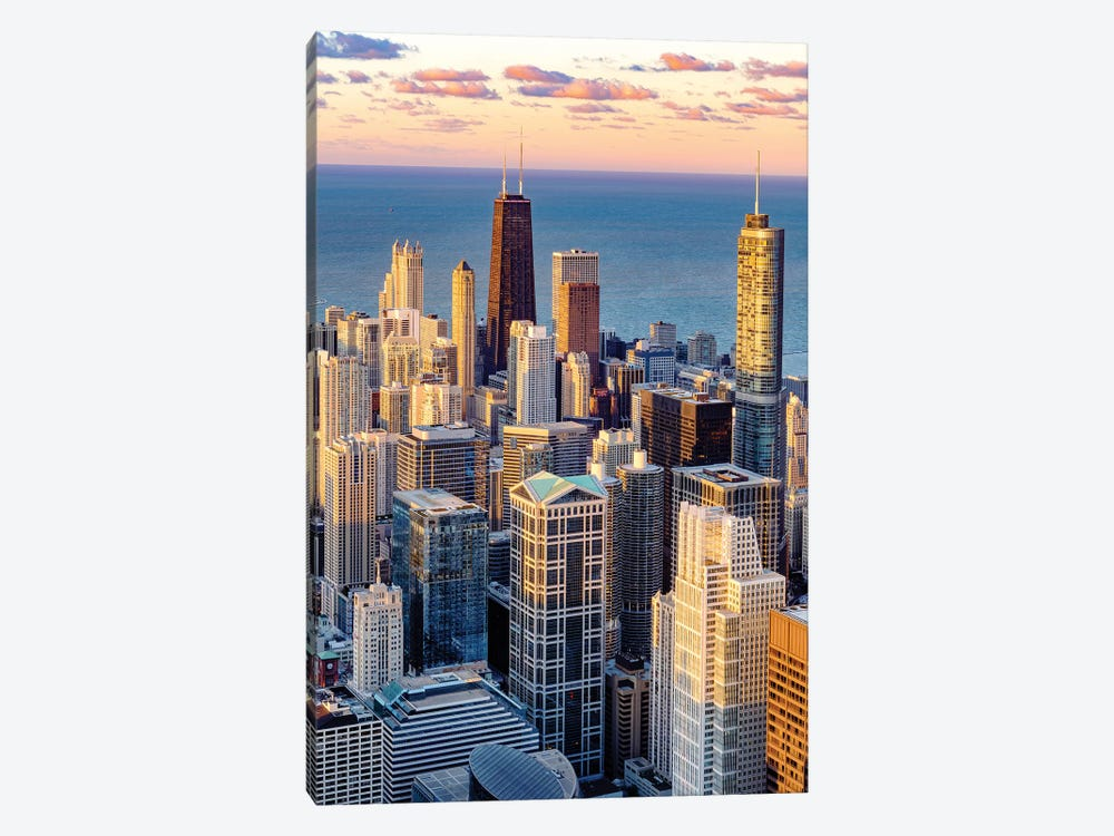 Dowentown Chicago Skyline  by Susanne Kremer 1-piece Canvas Print