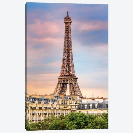 Eiffel Tower View, Champ de Mars  Canvas Print #SKR66} by Susanne Kremer Canvas Art Print