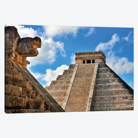 El Castillo, Mayan Ruin, Chichen Itza I   Canvas Print #SKR68} by Susanne Kremer Canvas Art