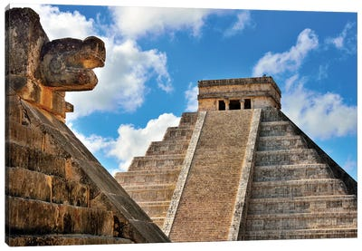 El Castillo, Mayan Ruin, Chichen Itza I   Canvas Art Print