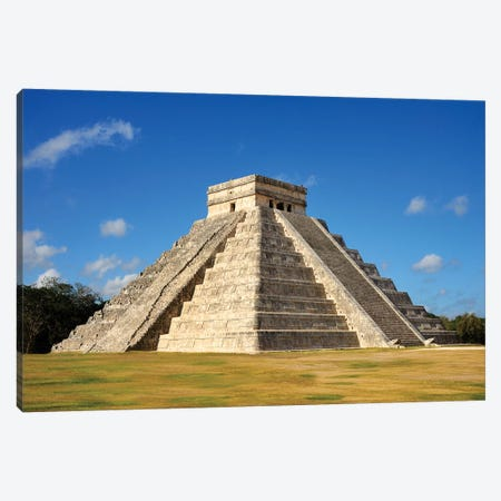 El Castillo, Mayan Ruin, Chichen Itza II Canvas Print #SKR69} by Susanne Kremer Canvas Artwork