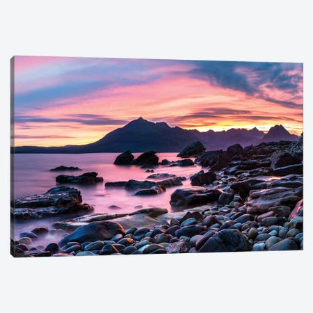 Elgol Beach Loch Scavarg Canvas Print #SKR70} by Susanne Kremer Canvas Print