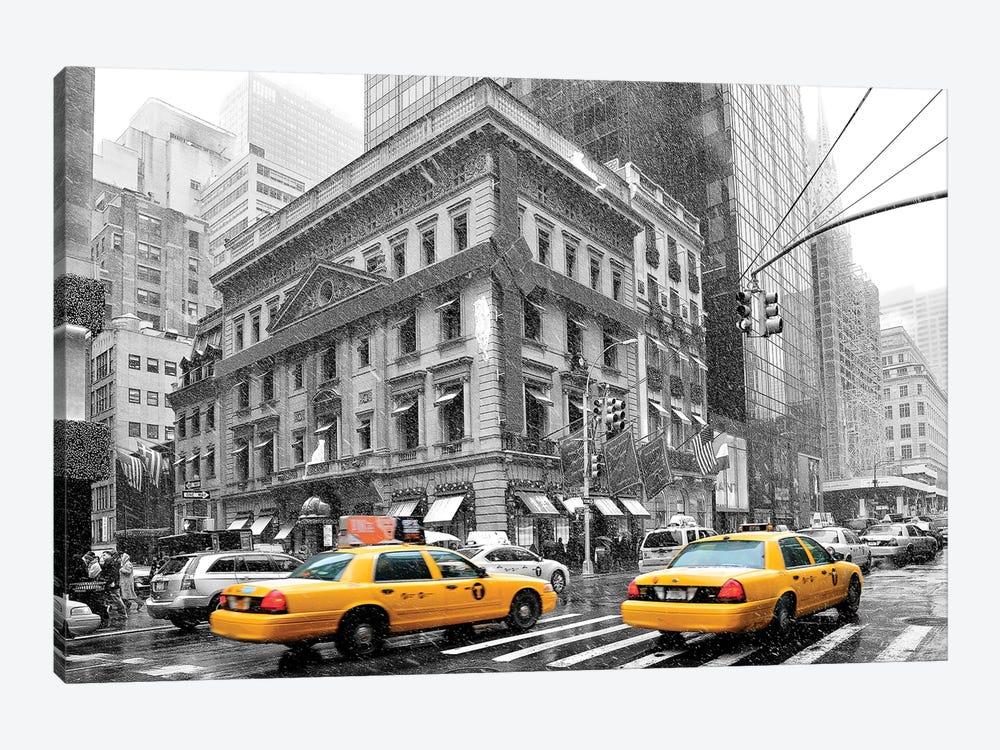 Fifth Avenue Yellow Cab  by Susanne Kremer 1-piece Canvas Art Print
