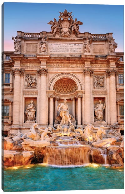 Fontani die Trevi, Trevi Fountain  Canvas Art Print