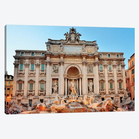 Fontani die Trevi, Trevi Fountain at night  Canvas Print #SKR73} by Susanne Kremer Art Print