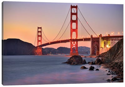 Golden Gate Bridge,Marshall Beach sunset  Canvas Art Print