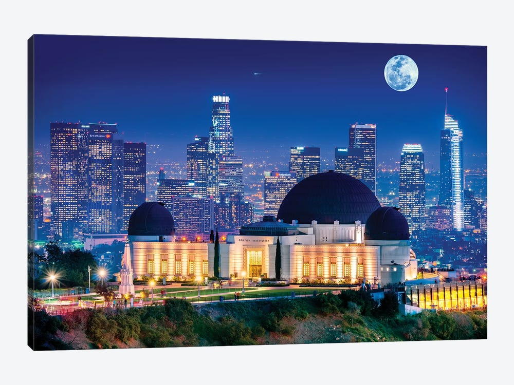 Griffith Park Observatory  by Susanne Kremer 1-piece Art Print