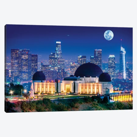 Griffith Park Observatory  Canvas Print #SKR79} by Susanne Kremer Canvas Print