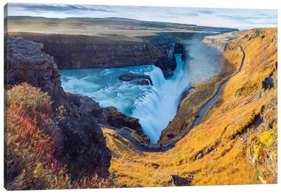 Gullfoss Waterfall Golden Circle  Canvas Art Print