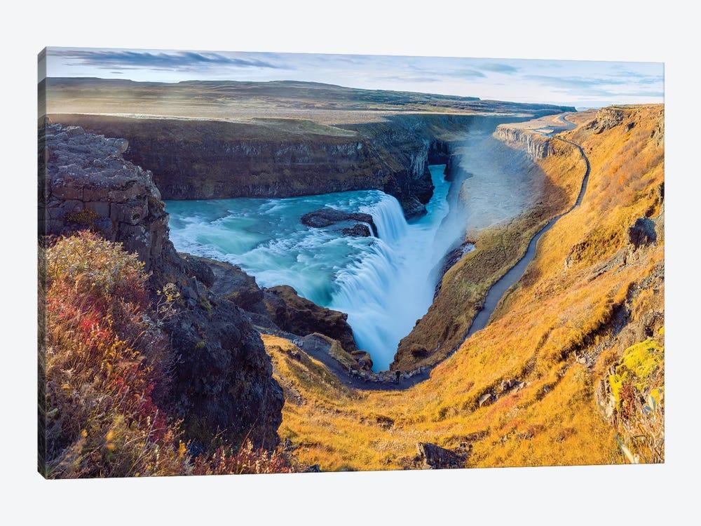 Gullfoss Waterfall Golden Circle  by Susanne Kremer 1-piece Canvas Artwork