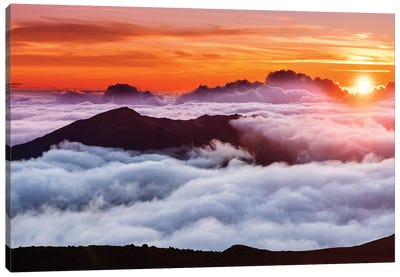 Haleakal Crater, Haleakala National Park  Canvas Art Print