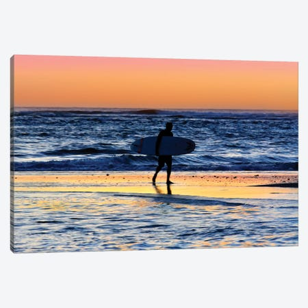 Hanalei Bay Surfer at Sunset  Canvas Print #SKR83} by Susanne Kremer Canvas Art
