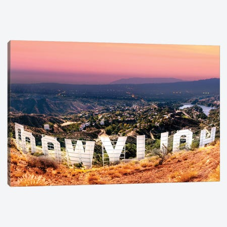 Hollywood Sign   Canvas Print #SKR88} by Susanne Kremer Canvas Wall Art