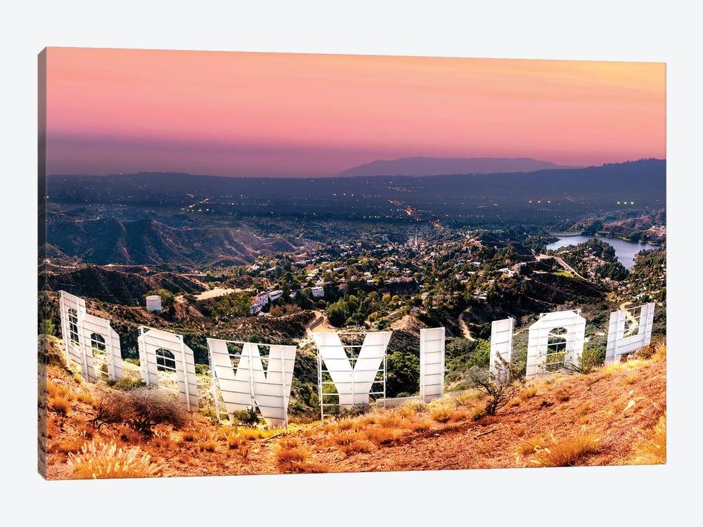 Hollywood Sign   by Susanne Kremer 1-piece Canvas Art Print