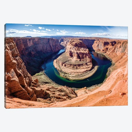 Horseshoe Bend and Colorado River  Canvas Print #SKR91} by Susanne Kremer Canvas Art Print