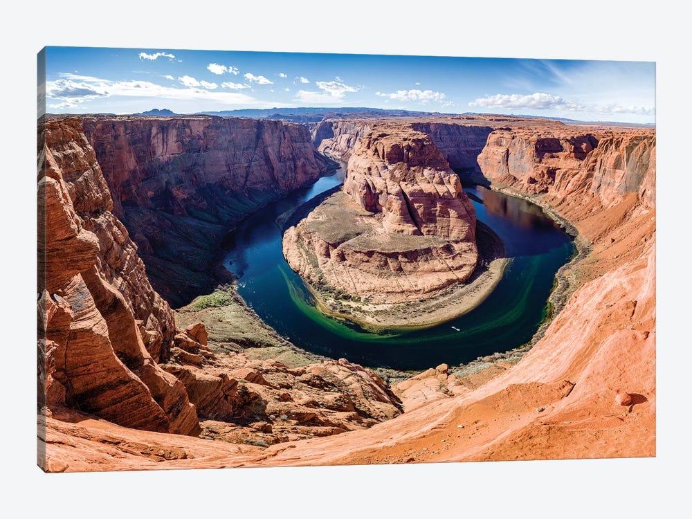 Horseshoe Bend and Colorado River  by Susanne Kremer 1-piece Canvas Art Print