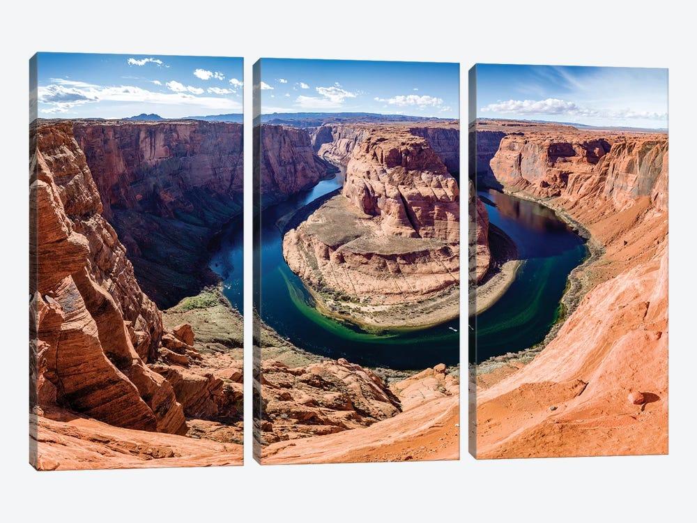 Horseshoe Bend and Colorado River  by Susanne Kremer 3-piece Canvas Print