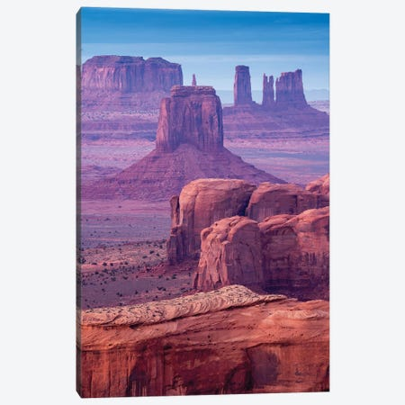 Hunts Mesa Navajo Tribal Park III Canvas Print #SKR97} by Susanne Kremer Canvas Artwork