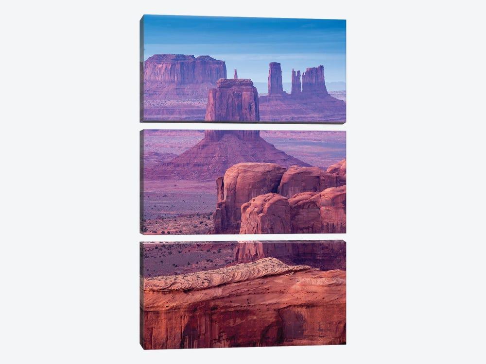 Hunts Mesa Navajo Tribal Park III by Susanne Kremer 3-piece Art Print