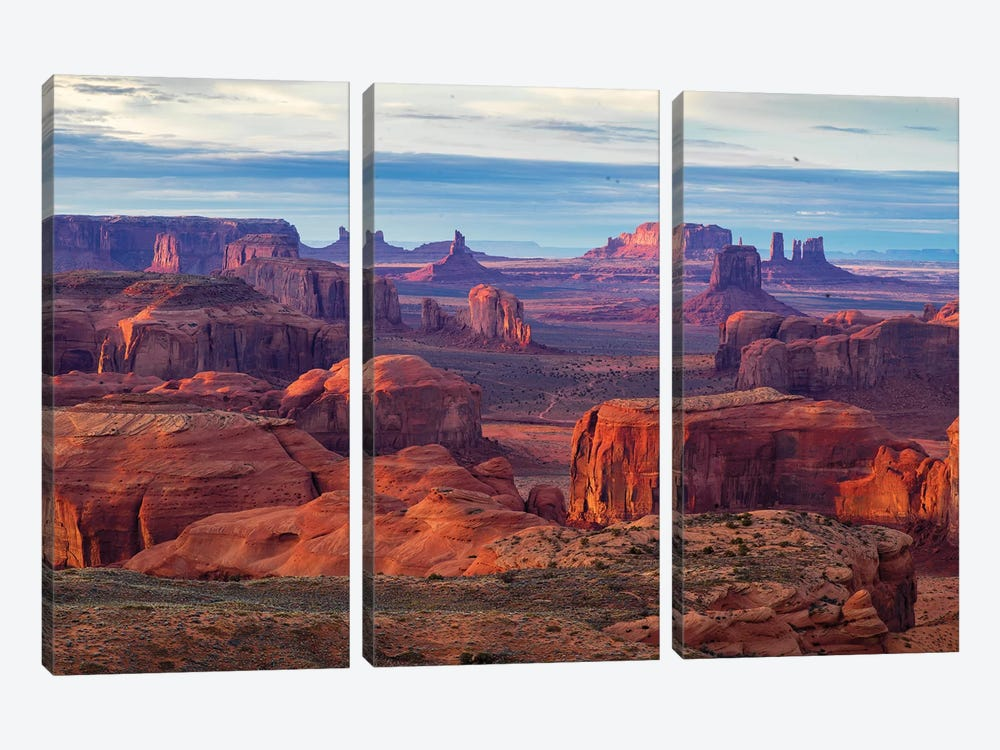 Hunts Mesa Navajo Tribal Park IV by Susanne Kremer 3-piece Canvas Wall Art