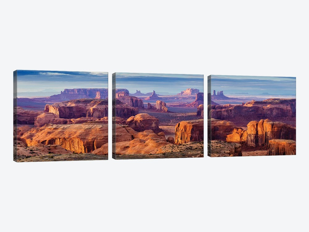 Hunts Mesa Navajo Tribal Park V by Susanne Kremer 3-piece Canvas Art Print