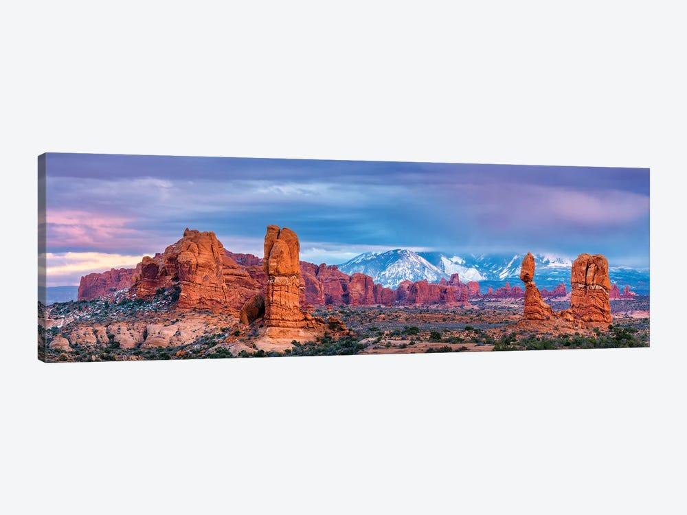 Balanced Rock and La Sal Mountains  by Susanne Kremer 1-piece Canvas Art Print