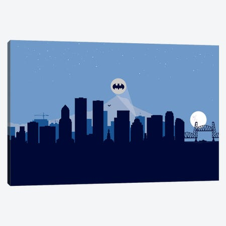 Portland Justice Canvas Print #SKW101} by SKYWORLDPROJECT Canvas Art