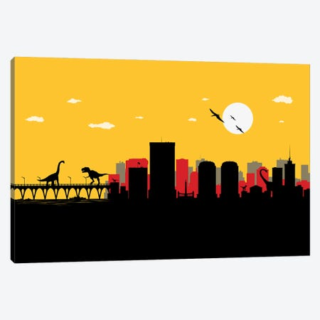 Richmond Dinosaurs Canvas Print #SKW102} by SKYWORLDPROJECT Canvas Artwork