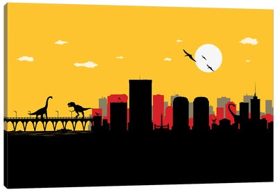 Richmond Dinosaurs Canvas Art Print