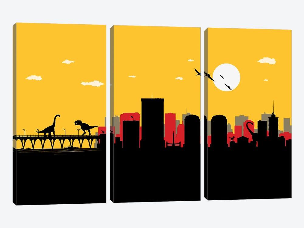 Richmond Dinosaurs by SKYWORLDPROJECT 3-piece Canvas Artwork