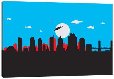 Sacramento's Superhero Canvas Art Print