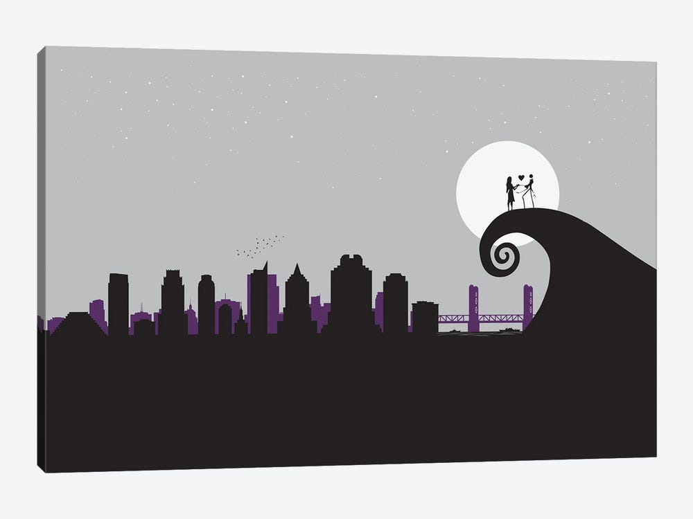A nightmare in Sacramento by SKYWORLDPROJECT 1-piece Canvas Artwork