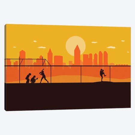 San Diego Playball Canvas Print #SKW106} by SKYWORLDPROJECT Art Print