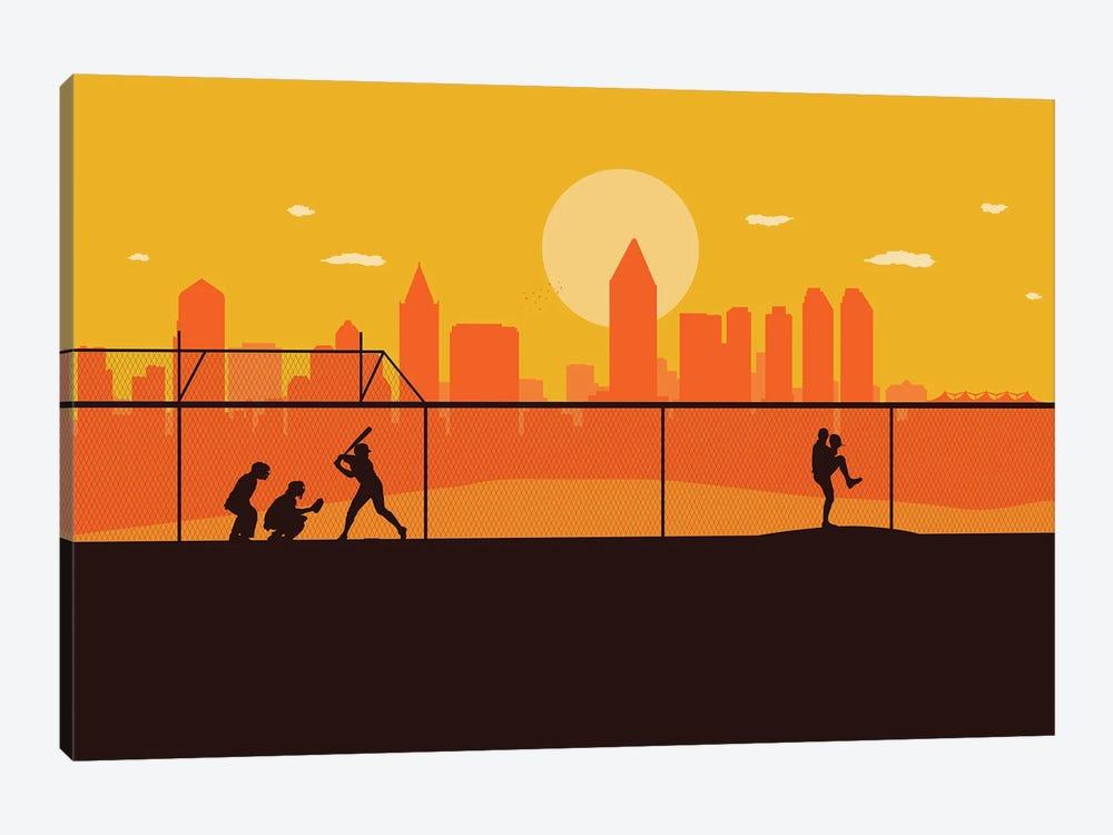 San Diego Playball by SKYWORLDPROJECT 1-piece Canvas Art